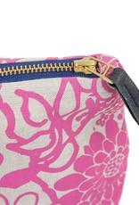 Erin Flett Zip Linen Makeup Bag Berry Garden