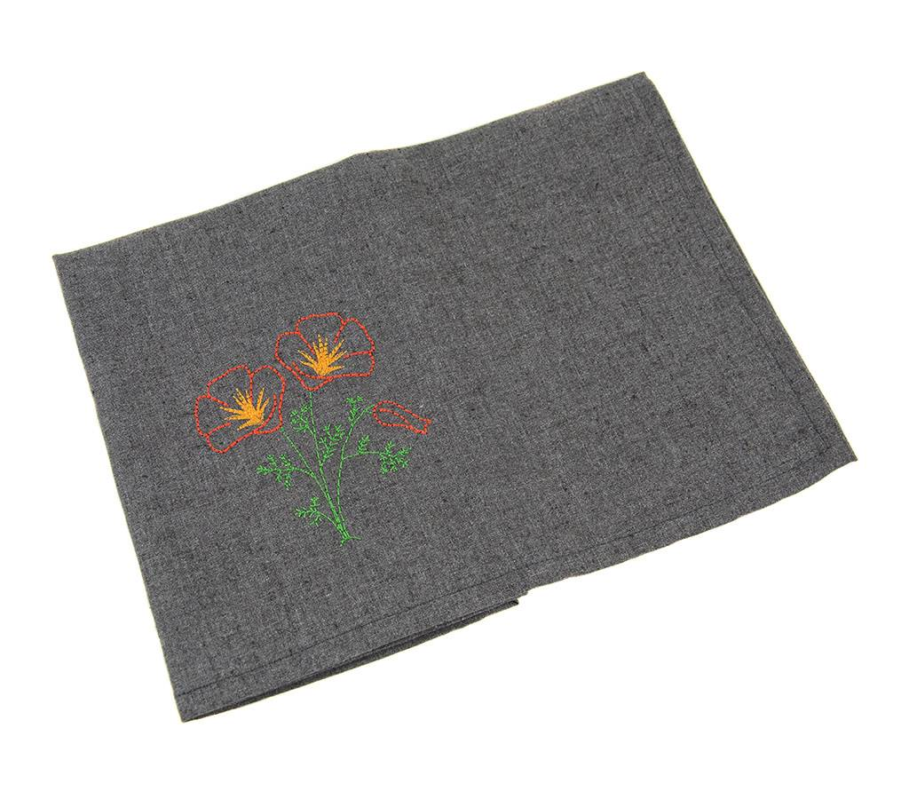 Eko Kreations Poppy Kitchen Towels in Grey