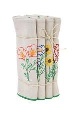 Eko Kreations Wildflowers of the Sierras Dinner Napkin Set in Cream