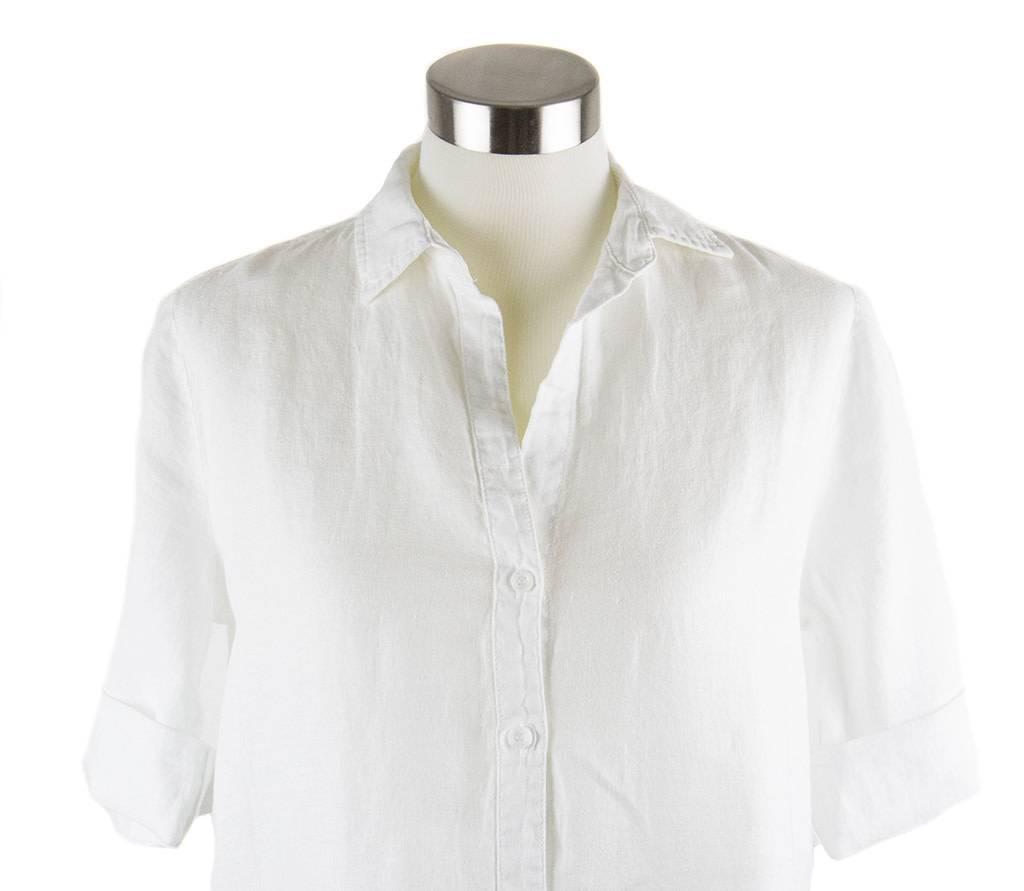 Side Stitch Fray Hem A-Line Dress White