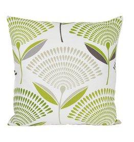 Kreatelier Gingko Pillow in Green - 18 x 18in