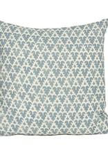 Kreatelier Kashmiri Pillow in Cornflower Blue - 18 x 18in