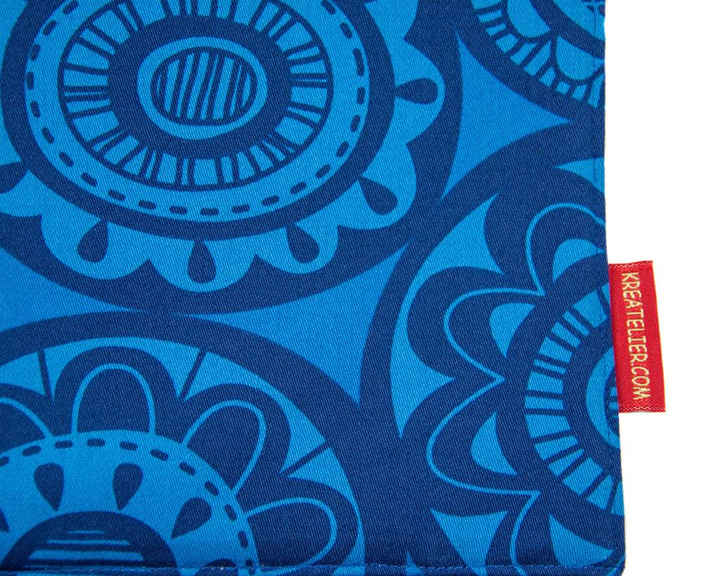 Kreatelier Car Seat Organizer Blue Floral