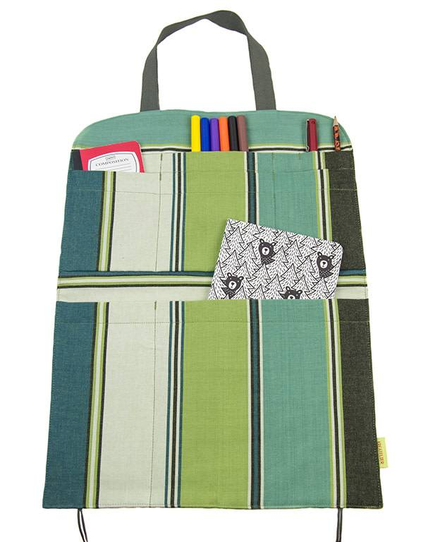 Kreatelier Car Seat Organizer Stripes