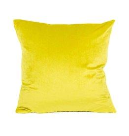 Kreatelier Kreatelier Velvet Pillow in Lemongrass - 18 x 18in