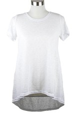 Nally and Millie Pleated Back S/SLV Tunic White
