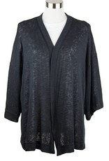 Nally and Millie Open Front Cardigan Black