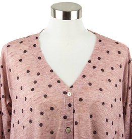 Nally and Millie Cardigan Polka Dot Print