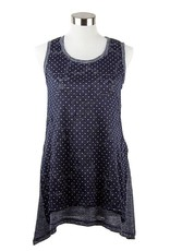 Nally and Millie Tunic Printed Dot Lace Over Lay