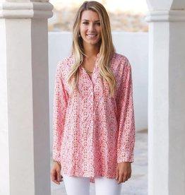 Rockflowerpaper Bella Pink Henley Tunic