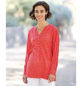 Rockflowerpaper Paros Red V-neck Tunic