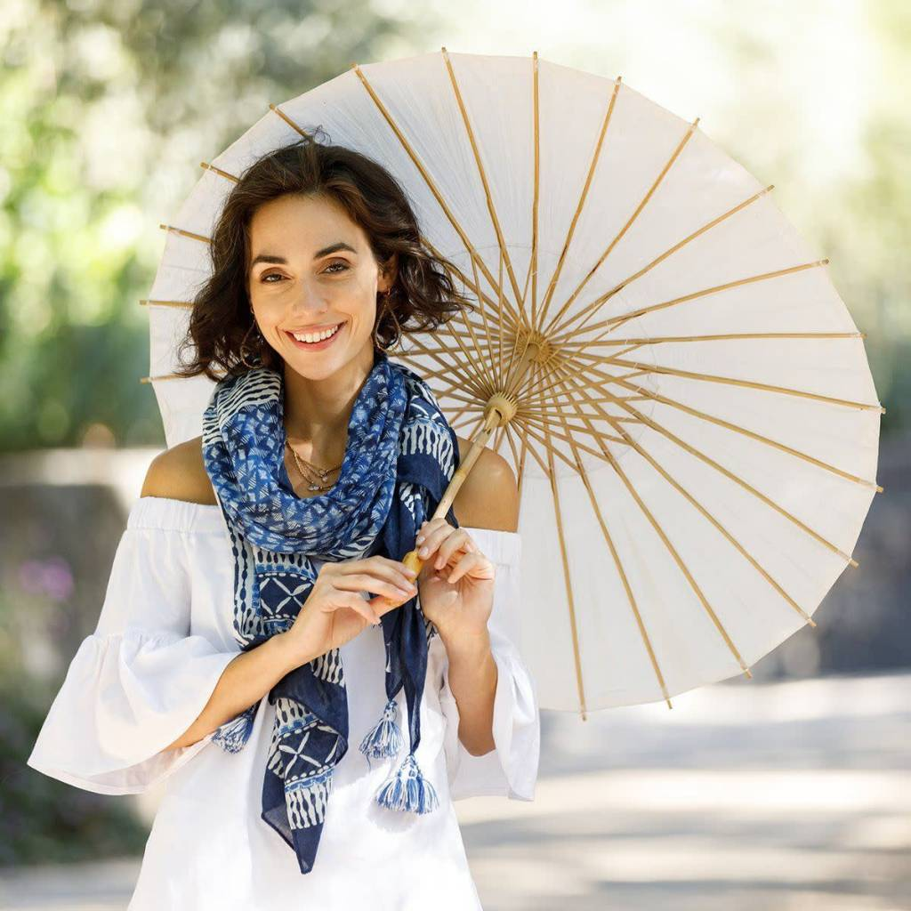 Rockflowerpaper Kimono Scarf Paros Navy