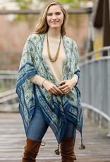 Rockflowerpaper Kimono Scarf  Akemi Navy