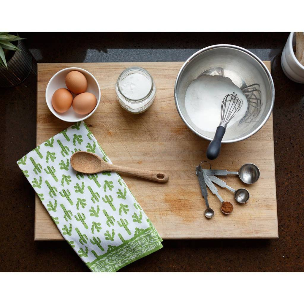 Rockflowerpaper Kitchen Towel Cactus Green