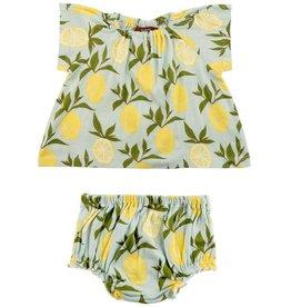 Milkbarn Dress and Bloomer Set Lemon