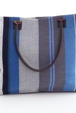 Dash & Albert Midnight Stripe Woven Cotton Tote Bag