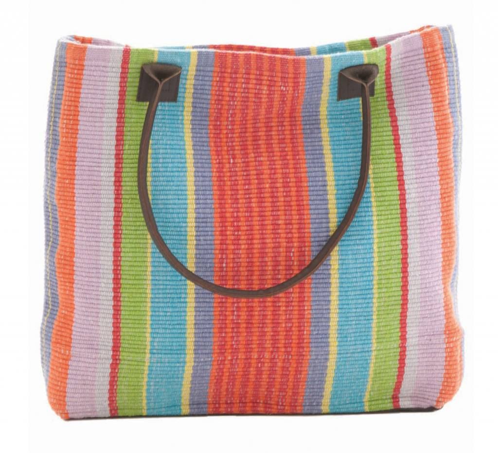 Dash & Albert Garden Stripe Woven Cotton Tote Bag