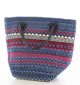 Dash & Albert Le Tote Fiesta Stripe Blue Red