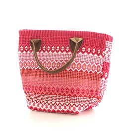 Dash & Albert Le Tote Fiesta Stripe Fuchsia Red