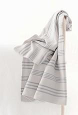 Dash & Albert Aland Stripe Woven Cotton Throw