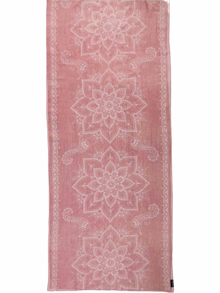 Fraas Lasered Ornamental Scarf in Light Rose