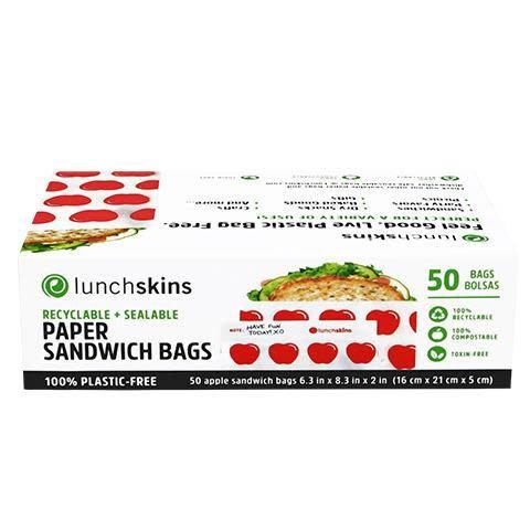 3greenmoms Recyclable Sandwich Bags Apples Box of 50