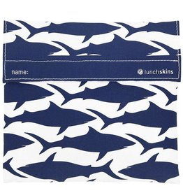 3greenmoms Reusable Sandwich Bag Navy Shark (Velcro)