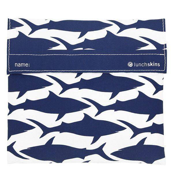 3greenmoms Reusable Sandwich Bag Navy Shark (Velcro)