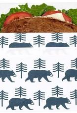 3greenmoms Reusable Sandwich Bag Charcoal Bear (Velcro)