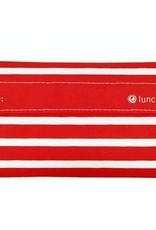 3greenmoms Reusable Snack Bag Red Stripe ( Velcro)