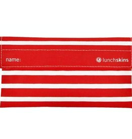 3greenmoms Reusable Snack Bag Red Stripe ( Velcro)