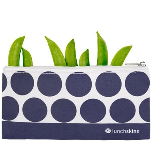 3greenmoms Small Zippered Bag Navy Dot