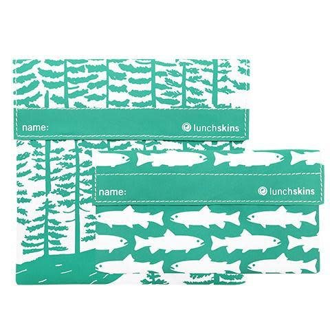 3greenmoms 2-Pack Reusable Bag Set Calypso Forest (Velcro)