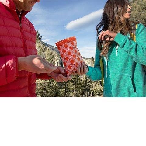 3greenmoms 2-Pack Reusable Bag Set Sunset Circles (Velcro)