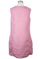 Side Stitch Split Neck A-Line Dress Shadowed Mauve