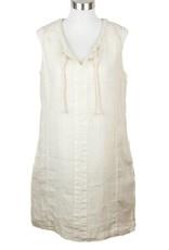 Side Stitch Split Neck A Line Dress Sunkissed Sand