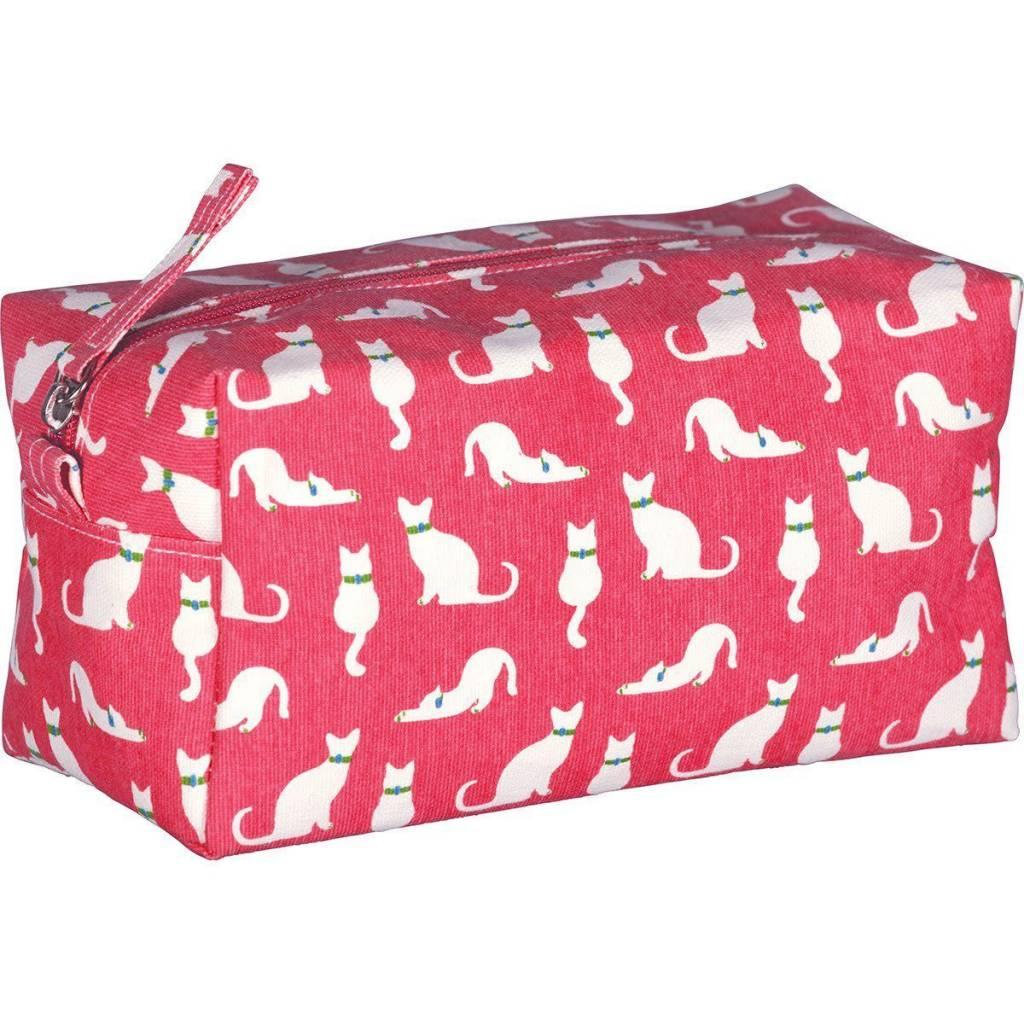 Rockflowerpaper Dopp Kit Cats Pink