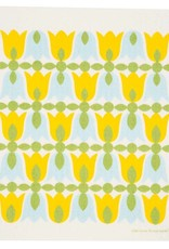 Cose Nuove Swedish Dishcloth Tulip Blossoms Yellow