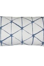Kreatelier Geometric Pillow in Grey - 11 x 21in