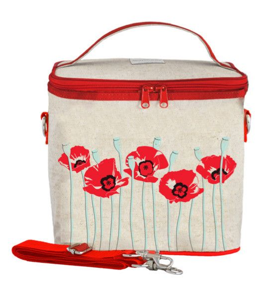 So Young Large Cooler Bag Red Poppy