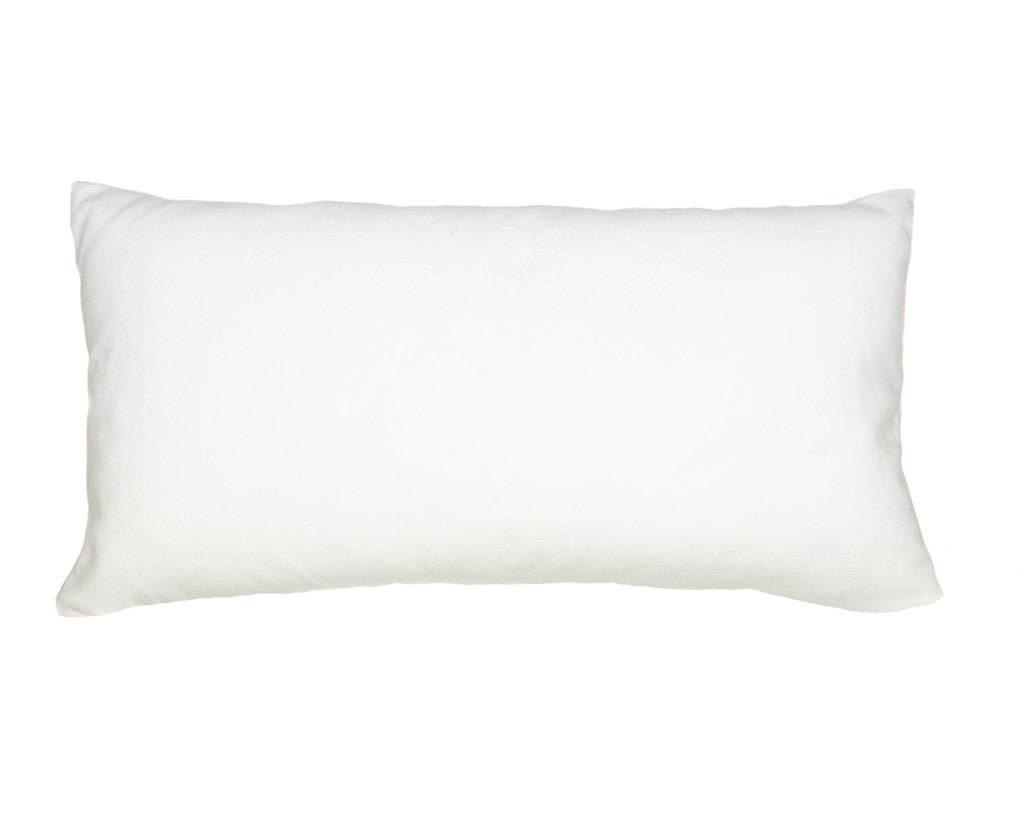 Kreatelier Geometric Pillow in Light Blue - 11 x 21in