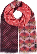 Fraas Mixed Media Scarf Coral