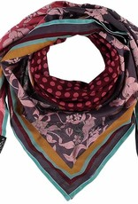 Fraas Patchwork Floral Scarf Rosewood