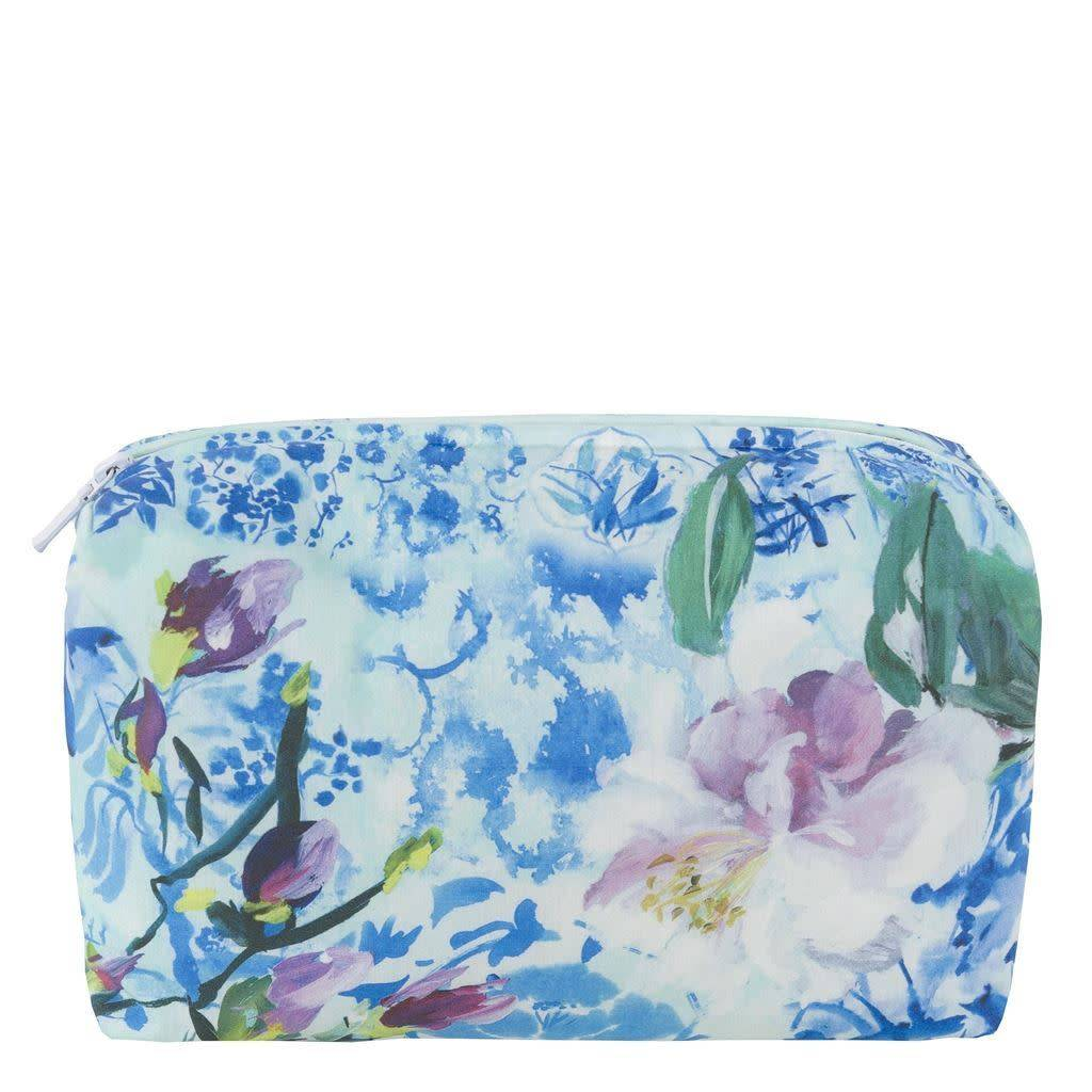 Designers Guild Majolica Cornflower Medium Toiletry Bag