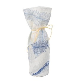 Kreatelier Bottle Gift Bag Blue Leaves