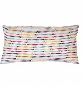 Kreatelier Cotton Pillow Multicolor - 11 x 21in