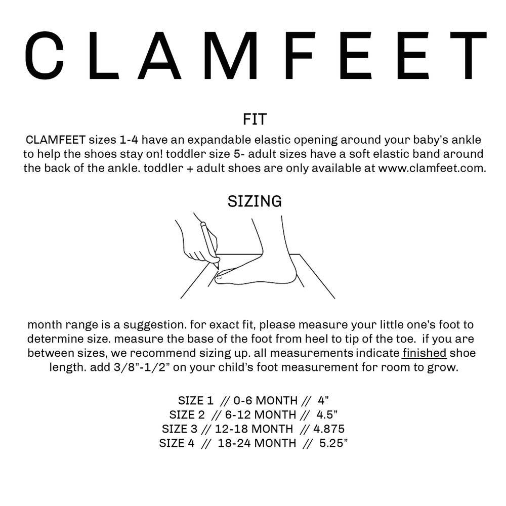 Clamfeet Baby Shoes Forrest