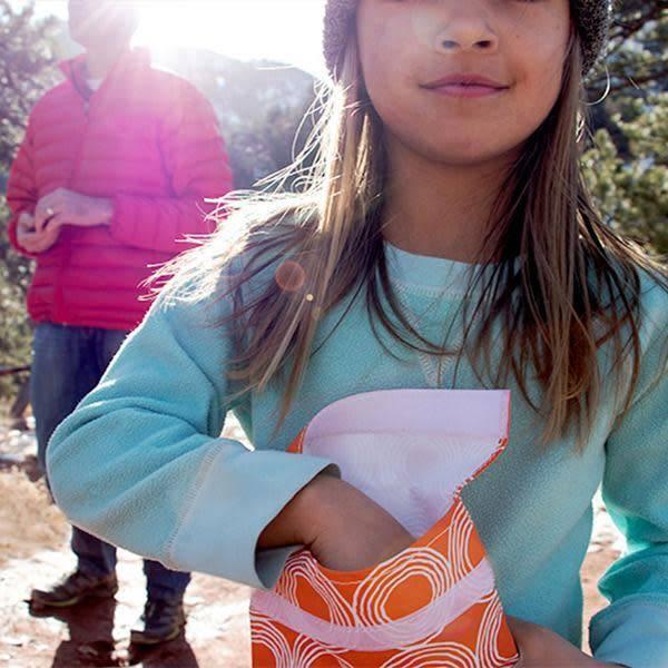 3greenmoms Reusable Quart Bag Sunset Circles (Velcro)