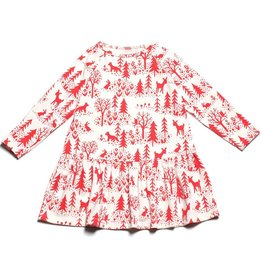 Winter Water Factory Chicago Dress Winter Scenic Red