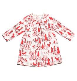 Winter Water Factory Aspen Baby Dress Winter Scenic Red